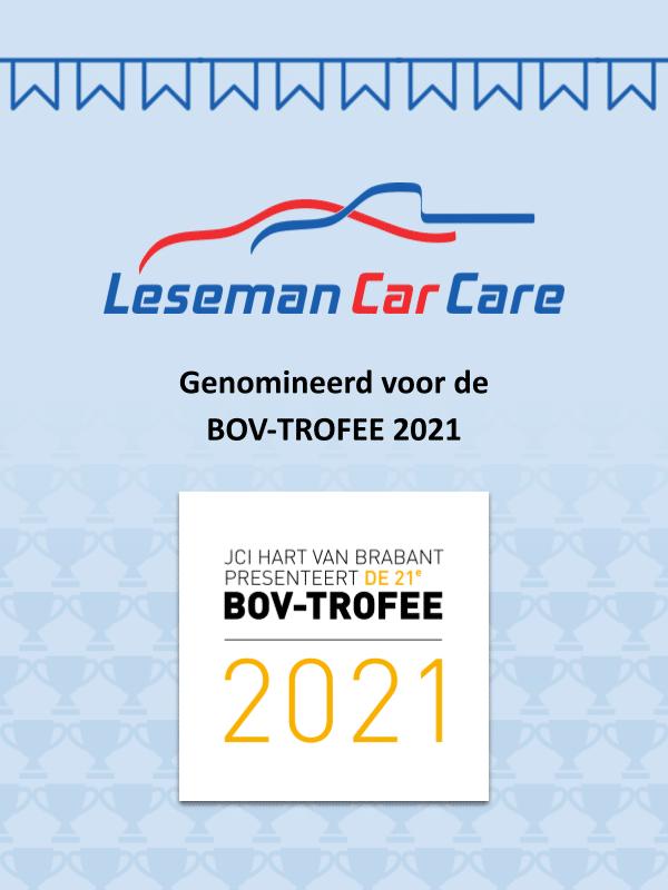 BOV-TROFEE 2021 nominatie Leseman Car Care